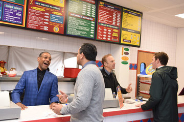 Giancarlo Esposito AMC's 'Better Call Saul' Los Pollos Hermanos Pop-Up Shop With Bob Odenkirk and Giancarlo Esposito