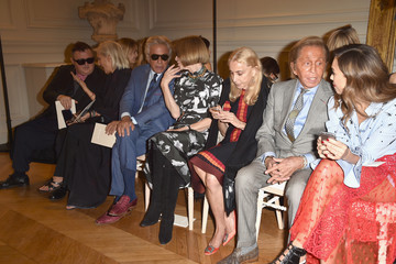 Giancarlo Giammetti Valentino : Front Row - Paris Fashion Week Womenswear Spring/Summer 2017
