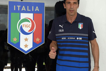 Gianluigi Buffon Italy Training & Press Conference - 2014 FIFA World Cup Brazil
