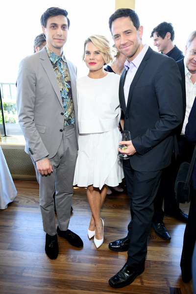 2019 Tony Awards Nominees' Luncheon [nominees,gideon glick,santino fontana,celia keenan-bolger,tony awards,luncheon,suit,event,fashion,formal wear,white-collar worker,footwear,fun,dress,smile,tuxedo,new york city,the rainbow room]