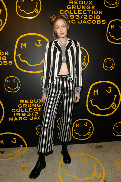 Marc Jacobs, Sofia Coppola, And Katie Grand Celebrate The Marc Jacobs Redux Grunge Collection And The Opening Of Marc Jacobs Madison [the marc jacobs redux grunge collection,yellow,flooring,style,marc jacobs,sofia coppola,katie grand celebrate the marc jacobs redux grunge collection and the opening of marc jacobs madison,katie grand,gigi hadid,marc jacobs madison,new york city,opening]