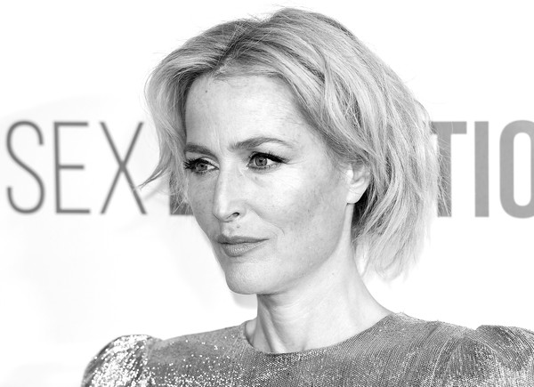 'Sex Education' Season 2 World Premiere - Red Carpet Arrivals [image,hair,face,hairstyle,eyebrow,skin,chin,blond,nose,lip,beauty,red carpet arrivals,gillian anderson,england,london,genesis cinema,sex education season 2 world premiere,gillian anderson,sex education,dana scully,photograph,actor,photography,image,netflix]