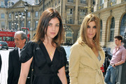 Carine Roitfeld and her daughter Julia Restoin Roitfeld arrive to attend the Giorgio Armani Prive show as part of the Paris Haute Couture Fashion Week Fall/Winter 2011 at Espace Vendome on July 6, 2010 in Paris, France.