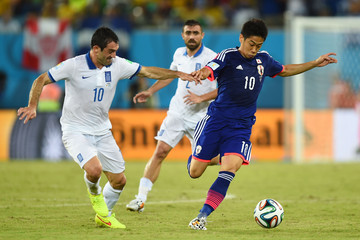 Giorgos Karagounis Japan v Greece: Group C