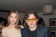 Sistine Rose Stallone (L) and Giovanni Morelli attend the Opening of Beverly Hills Boutique with a private VIP dinner hosted by Giovanni Morelli, Stuart Weitzman Creative Director, and Laura Brown, InStyle Editor-In-Chief at The Sunset Tower Hotel on January 19, 2018 in Los Angeles, California.