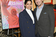 "Freida Pinto (L) and Richard E. Robin attend Girl Rising and International Rescue Committee's special screening of Documentary Film ""Brave Girl Rising"" for International Women's Day at West Hollywood City Council Chamber on March 08, 2019 in West Hollywood, California."