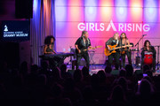 Judith Hill, Cathy Henderson, Melissa Etheridge, Nini Camps and Carnie Wilson perform onstage during Girls Rising Panel & Performance at GRAMMY Museum on October 22, 2019 in Los Angeles, California.