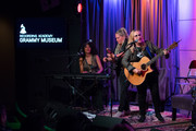 Judith Hill, Cathy Henderson and Melissa Etheridge perform onstage during Girls Rising Panel & Performance at GRAMMY Museum on October 22, 2019 in Los Angeles, California.