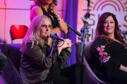 Melissa Etheridge and Carnie Wilson speak onstage during Girls Rising Panel & Performance at GRAMMY Museum on October 22, 2019 in Los Angeles, California.