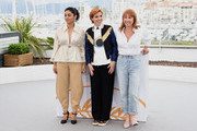 """Actress Golshifteh Farahani, director Eva Husson and actress Emmanuelle Bercot attends the photocall for """"Girls Of The Sun (Les Filles Du Soleil)"""" during the 71st annual Cannes Film Festival at Palais des Festivals on May 13, 2018 in Cannes, France."""