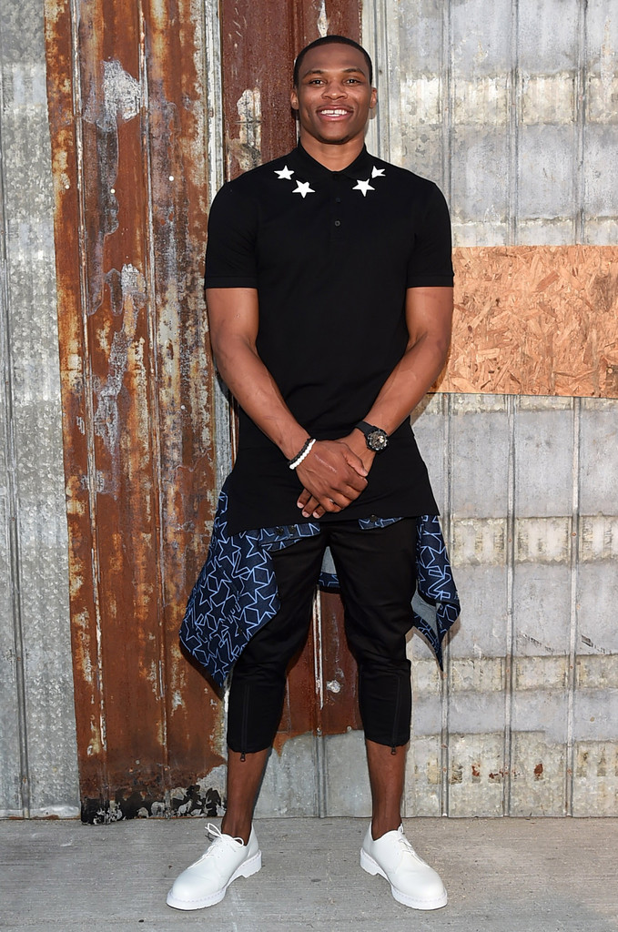 russell westbrook photos photos givenchy arrivals
