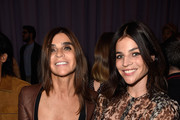 (L-R)  Carine Roitfeld and Julia Restoin Roitfeld attend the Givenchy show as part of the Paris Fashion Week Womenswear Spring/Summer 2015 on September 28, 2014 in Paris, France.