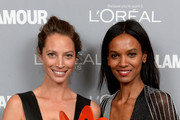 Christy Turlington Burns and Liya Kebede attend Glamour's 23rd annual Women of the Year awards on November 11, 2013 in New York City.