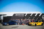 Guests attend the Glamour and Mercedes-Benz AMG Driving Academy Experience at Laguna Seca at WeatherTech Raceway Laguna Seca on October 03, 2019 in Salinas, California.