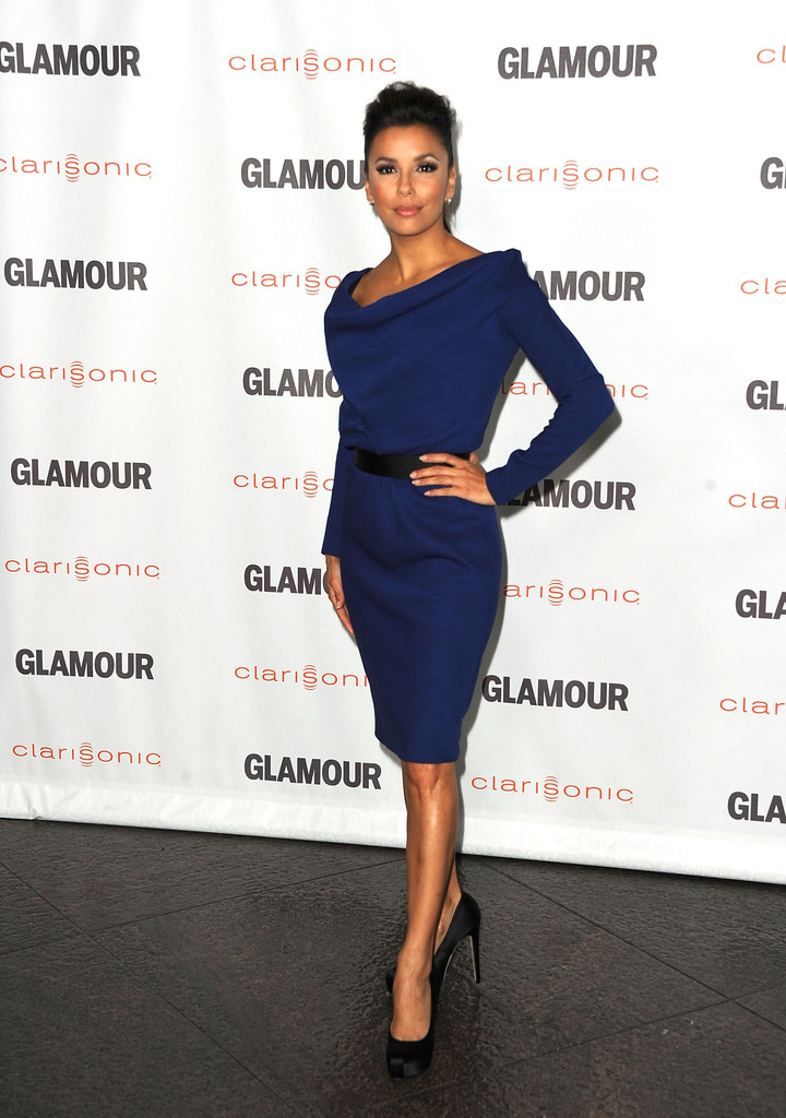 Actress Eva Longoria arrives at Glamour Reel Moments 2011 - held at the Directors Guild of America on October 24, 2011 in Los Angeles, California.