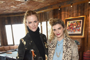 Actors Brooklyn Decker (L) and Megan Ferguson attend Glamour's Women Rewriting Hollywood Lunch at Sundance Hosted By Lena Dunham, Jenni Konner and Cindi Leive on January 26, 2016 in Park City, Utah.