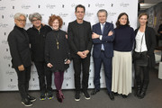 CEO of Glasshuette Thomas Meier and Berlinale International Jury members Ryuichi Sakamoto, Chema Prado, Stephanie Zacharek, Tom Tykwer, Adele Romanski and Cecile de France attend the Glashuette Original Lounge at The 68th Berlinale International Film Festival at Grand Hyatt Hotel on February 15, 2018 in Berlin, Germany.