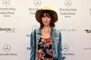 Wanda Badwal attends the Glaw show during the Mercedes-Benz Fashion Week Spring/Summer 2015 at Erika Hess Eisstadion on July 9, 2014 in Berlin, Germany.