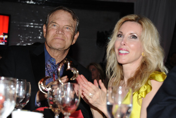 Glen Campbell with cute, friendly, funny, Wife Kimberly Woolen