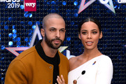Marvin Humes and Rochelle Humes attend The Global Awards 2019 at Eventim Apollo, Hammersmith on March 07, 2019 in London, England.
