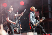 Musicians Patrick Stump and Peter Wentz of Fall Out Boy perform onstage at the Global Citizen 2015 Earth Day Courtesy of Partner Citi at National Mall on April 18, 2015 in Washington, DC.