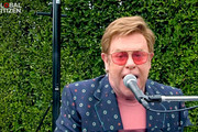 """In this screengrab, Elton John performs during """"One World: Together At Home"""" presented by Global Citizen on April, 18, 2020. The global broadcast and digital special was held to support frontline healthcare workers and the COVID-19 Solidarity Response Fund for the World Health Organization, powered by the UN Foundation."""