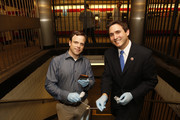 """Dr. Chris Mason and New York Council Member Ben Kallos attend """"Global City Sampling Day"""" To Launch Weill Cornell Medicine - Led Study Of Antimicrobial Resistance Across 54 International Cities on June 21, 2016 in New York City."""