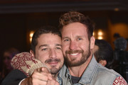 Shia LaBeouf with Tyler Nilson at the Global Down Syndrome 10th anniversary BBBY fashion show at Sheraton Denver Downtown Hotel on October 20, 2018 in Denver, Colorado.