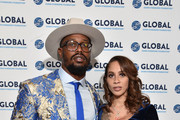Von Miller with Megan Denise at the Global Down Syndrome 10th anniversary BBBY fashion show at Sheraton Denver Downtown Hotel on October 20, 2018 in Denver, Colorado.