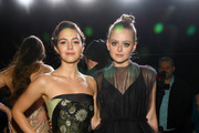 """Ella Hunt and Anna Baryshnikov attend Apple's Global Premiere for """"Dickinson"""" on October 17, 2019 in Brooklyn, New York. """"Dickinson"""" debuts on Apple TV+, the first all-original video subscription service, on November 1."""