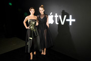 """Ella Hunt, and Anna Baryshnikov attend Apple's Global Premiere for """"Dickinson"""" on October 17, 2019 in Brooklyn, New York. """"Dickinson"""" debuts on Apple TV+, the first all-original video subscription service, on November 1."""