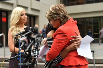 Gloria Allred Attorney Gloria Allred Hosts Press Conference With Former NFL Houston Texans Cheerleader