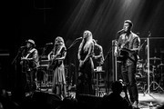 EDITORS Note: This images was edited with digital filters) (L-R) Singers Jason Reeves, Nelly Joy,  Colbie Caillat, and Justin Young of the band Gone West perform at Gramercy Theatre on April 09, 2019 in New York City.