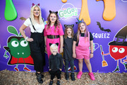 (L-R) Hattie Margaret McDermott, Tori Spelling, Beau Dean McDermott, Stella Doreen McDermott and Finn Davey McDermott attend the GoGo squeeZ GoGoWeen Halloween Launch Event on October 07, 2019 in Los Angeles, California.