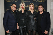 (L-R) Gerard Maione, Devon Windsor, Nadine Leopold, and Seth Weisser attend the What Goes Around Comes Around Madison Avenue Flagship Opening Celebration with Pernod Ricard on February 08, 2019 in New York City.