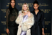 Lais Ribeiro, Elsa Hosk, and Chanel Iman attend the What Goes Around Comes Around Madison Avenue Flagship Opening Celebration with Pernod Ricard on February 08, 2019 in New York City.