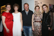(L-R) Nermina Lukac, Carla Juri, Christoph v. Tschirschnitz, Saskia Rosendahl and Christa Theret attend 'BMW Golden Bear Lounge' at the 63rd Berlinale International Film Festival on February 11, 2013 in Berlin, Germany.