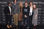 """(L-R) Jason Schwartzman, Director Alex Ross, Chloe Sevigny,  Musician Adam Horovitz, Analeigh Tipton and Emily Browning attend  the """"Golden Exits"""" Premiere on day 4 of the  2017 Sundance Film Festival at Library Center Theater on January 22, 2017 in Park City, Utah."""