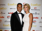 Ruud Gullit and wife Estelle Cruijff attend the Golden Foot Ceremony Awards on October 10, 2011 in Monaco, Monaco.