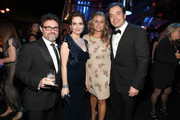 TV producer Jeffrey Richmond, actress Tina Fey, producer Nancy Juvonen and TV host Jimmy Fallon attend NBCUniversal/Focus Features Golden Globes Viewing and After Party sponsored by Chrysler held at The Beverly Hilton hotel on January 16, 2011 in Beverly Hills, California.