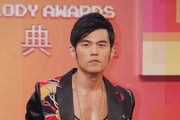 """Taiwanese singer Jay Chou arrives at the 24th Golden Melody Awards on July 6, 2013 in Taipei, Taiwan. Jay Chou is nominated as Best Male Mandarin Singer for his song """"Opus 12"""" at this year's Golden Melody Awards--one of the world's biggest annual events in Chinese-language pop music."""