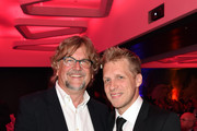Martin Krug and Oliver Pocher attend the Golden Racket Charity 2015 fala evening at Hotel Vierjahreszeiten on October 17, 2015 in Munich, Germany.