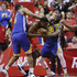 Clint Capela Photos - Clint Capela #15 of the Houston Rockets is double teamed by Draymond Green #23 of the Golden State Warriors and Kevon Looney #5 during Game Six of the Western Conference Semifinals of the 2019 NBA Playoffs at Toyota Center on May 10, 2019 in Houston, Texas. NOTE TO USER: User expressly acknowledges and agrees that, by downloading and or using this photograph, User is consenting to the terms and conditions of the Getty Images License Agreement. - Golden State Warriors v Houston Rockets - Game Six