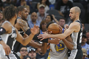 Emanuel Ginobili and Kevon Looney Photos Photo