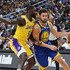 Lance Stephenson Photos - Klay Thompson #11 of the Golden State Warriors drives against Lance Stephenson #6 of the Los Angeles Lakers during their preseason game at T-Mobile Arena on October 10, 2018 in Las Vegas, Nevada. The Lakers defeated the Warriors 123-113. NOTE TO USER: User expressly acknowledges and agrees that, by downloading and or using this photograph, User is consenting to the terms and conditions of the Getty Images License Agreement. - Golden State Warriors vs. Los Angeles Lakers