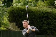James Wright of Swindon Golf Club plays his first shot on the 10th tee during the Golfbreaks.com PGA Fourball Championship - Midland Qualifier on June 10, 2015 in Wolverhampton, England.