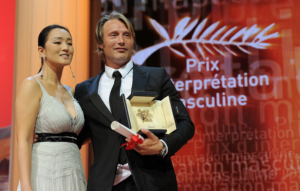 Gong Li and Mads Mikkelsen - Closing Ceremony Inside - 65th  Annual Cannes Film Festival