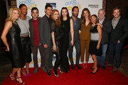 "(L-R) Dana Calvo, Joy Bryant, Teddy Bergman, Daniel Eric Gold, Genevieve Angelson, Erin Darke, Chris Diamantopoulos, Grace Gummer, Lynda Obst, Jeff Okin, Hunter Parrish attend ""Good Girls Revolt"" preview night screening, NYC hosted by TriStar Television at Roxy Hotel on November 4, 2015 in New York City."