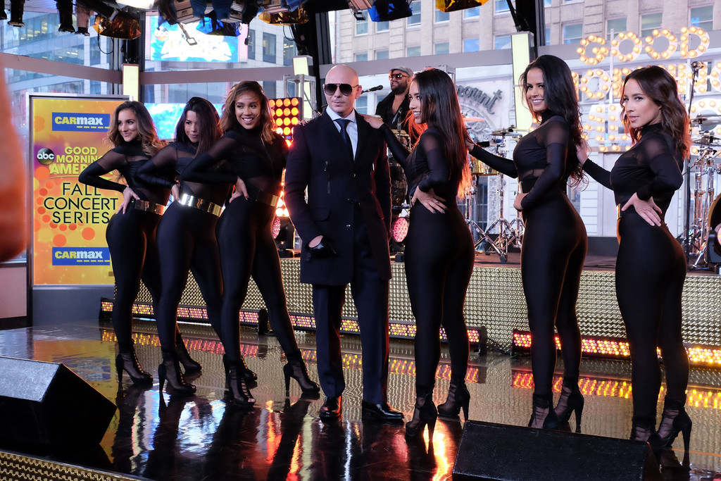 Good Morning America How Are You Chords : Pitbull in good morning america s th anniversary zimbio