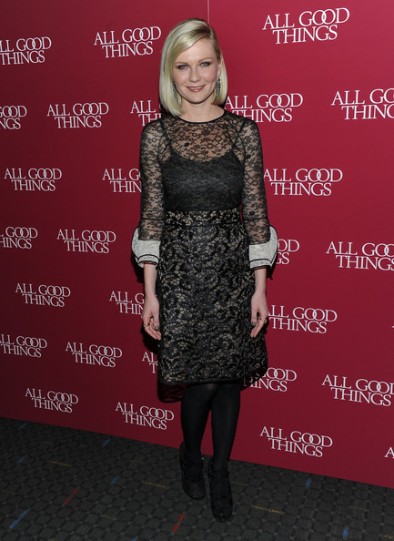 "Actress Kirsten Dunst attends the New York premiere of ""All Good Things"" at SVA Theater on December 1, 2010 in New York City."